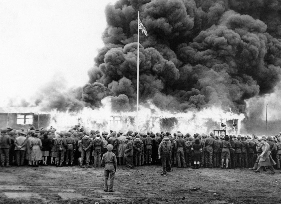 Burning The Belsen Concentration Camp