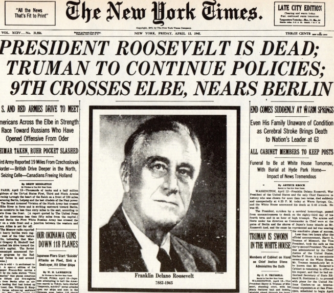 Roosevelts Death